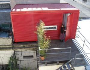 Exterior bodega roja 20 pies.