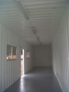 Interior bodega blanca  40 pies.